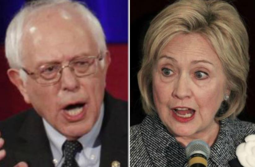Bernie Sanders versus Hillary Clinton (photo credit: REUTERS)