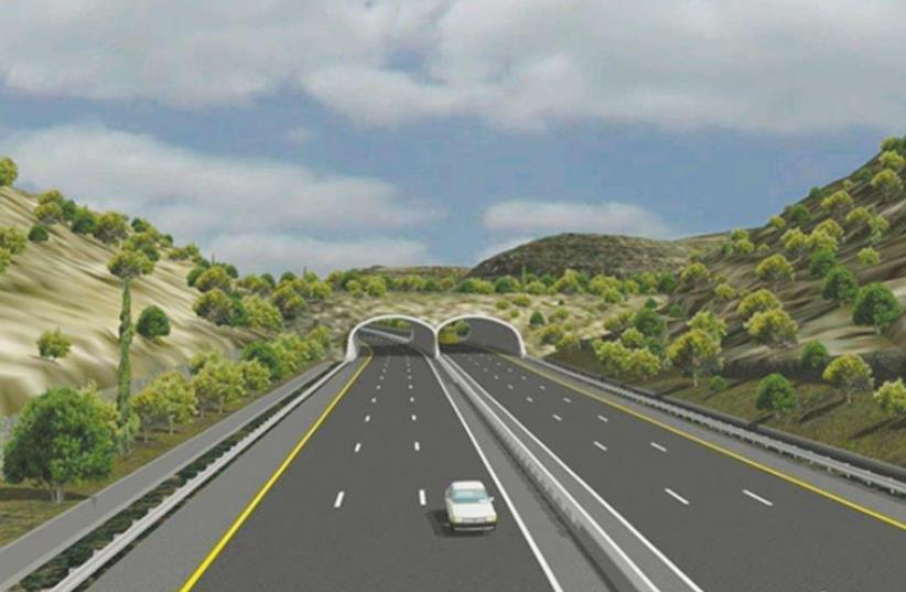 A new road to Jerusalem (photo credit: TRANSPORTATION MINISTERY)