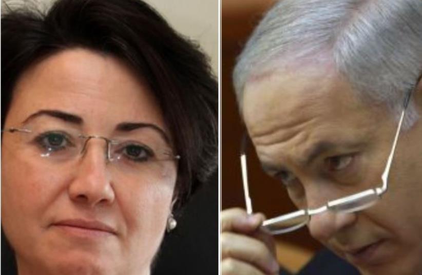 MK Haneen Zoabi and PM Benjamin Netanyahu (photo credit: REUTERS)