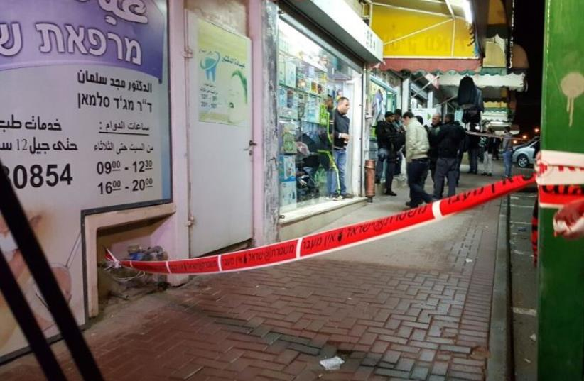 Scene where woman stabbed in town market in Rahat. (photo credit: RAHAT SPOKESMAN)