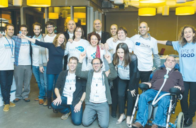 INNOVATORS WHO completed the Brainnovations program smile at the Google Campus in Tel Aviv on Wednesday. (photo credit: Courtesy)