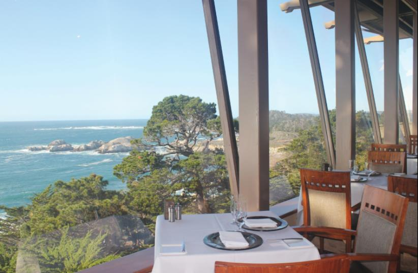 DINING IN Pacific's Edge Restaurant comes  with majestic views of Point Lobos.  (photo credit: GEORGE MEDOVOY)