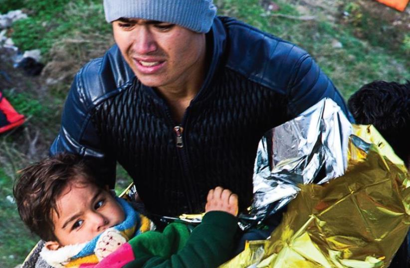 Syrian refugees (photo credit: MERAV NAOR-WEINSTOCK)