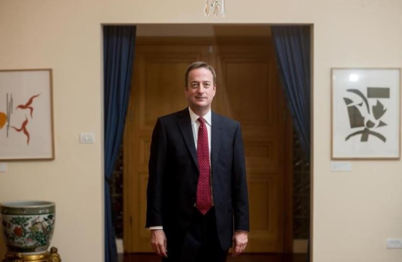 British Ambassador David Quarrey  (photo credit: BEN KELMER)