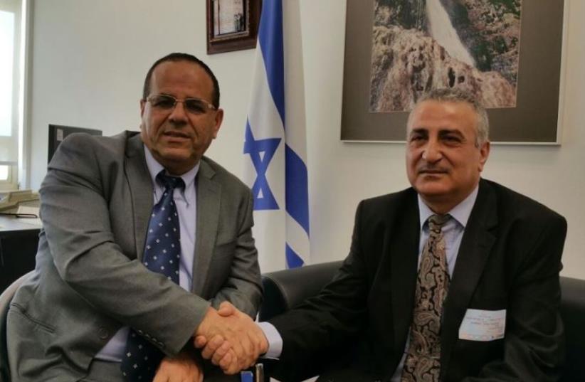 Deputy Regional Cooperation Minister Ayoub Kara with Syrian opposition leader Dr. Kamal Al-Labwani (photo credit: Courtesy)