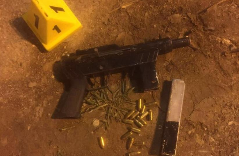 One of the automatic weapons used by terrorists in the attack at Damascus Gate on Sunday night (photo credit: COURTESY ISRAEL POLICE)