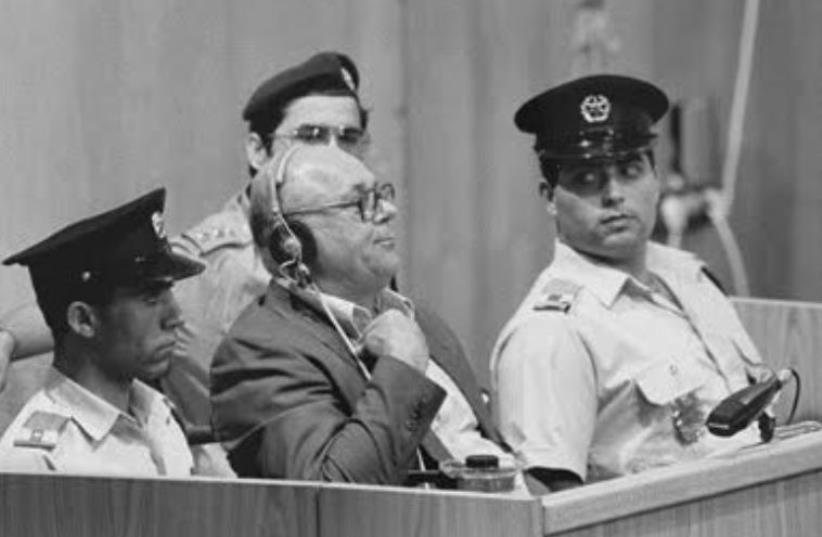 John Demjanjuk hearing his death sentence in Jerusalem (photo credit: Wikimedia Commons)