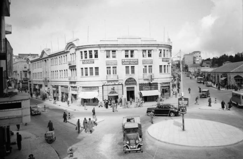 AN IMAGE of Zion Square circa 1939.  (photo credit: COURTESY JERUSALEM MUNICIPALITY)
