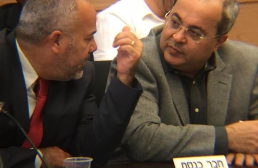 Ahmed Tibi and fellow Ta'al MK Osama Saadi (photo credit: Courtesy)