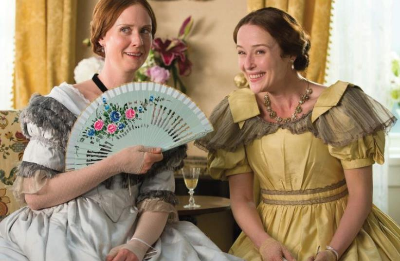 CYNTHIA NIXON (left) and Jennifer Ehle star in Terence Davies' 'A Quiet Passion.' (photo credit: JOHAN VOETS)