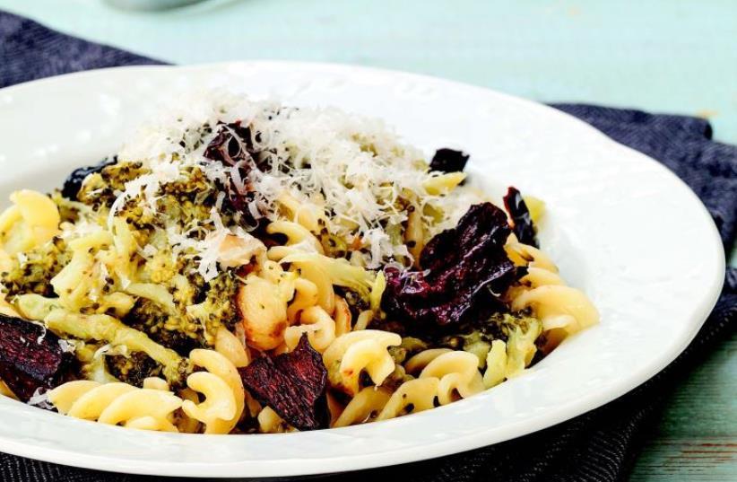 Fusilli with broccoli crumble. (photo credit: ASSAF AMBRAM)