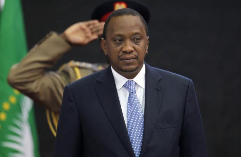 Kenya's President Uhuru Kenyatta (photo credit: REUTERS)