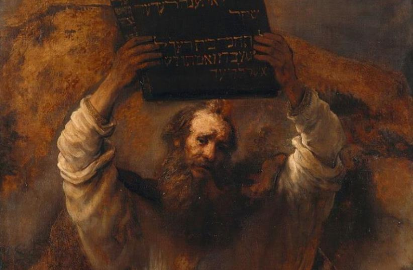 Moses, by Rembrandt. (photo credit: Wikimedia Commons)