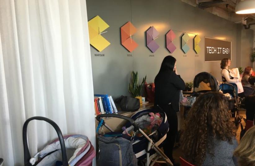 Campus for Moms, an initiative at Tel Aviv's Google office (photo credit: NIV ELIS)
