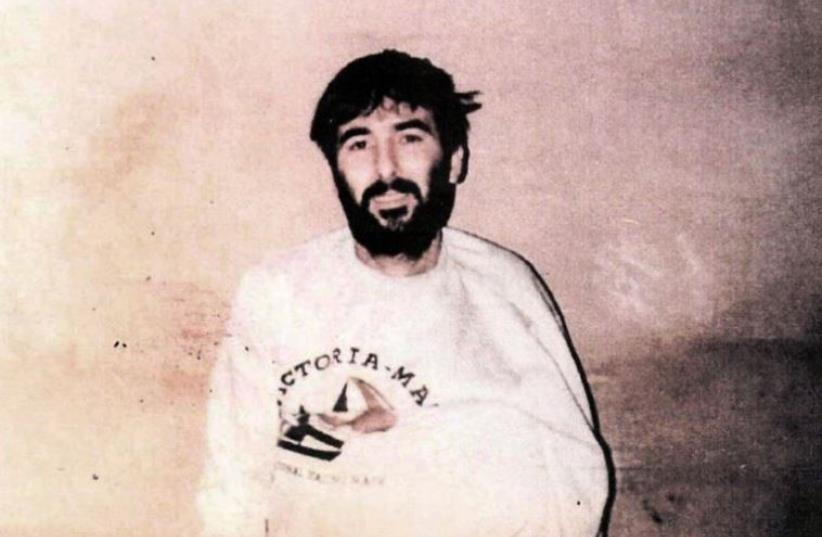 Missing IAF navigator Ron Arad in captivity after his jet went down in Lebanon in 1986 (photo credit: AFP PHOTO)