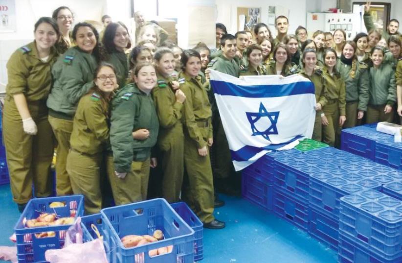 IDF members serve as key volunteers at Chasdei Naomi (photo credit: Courtesy)