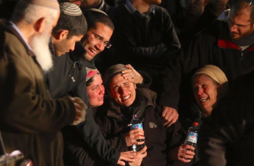 Funeral of Capt. (res.) Eliav Gelman (photo credit: MARC ISRAEL SELLEM/THE JERUSALEM POST)