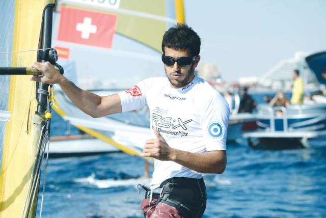 Israeli windsurfer Shahar Zubari (photo credit: AMIT SHISEL / EILAT MUNICIPALITY)