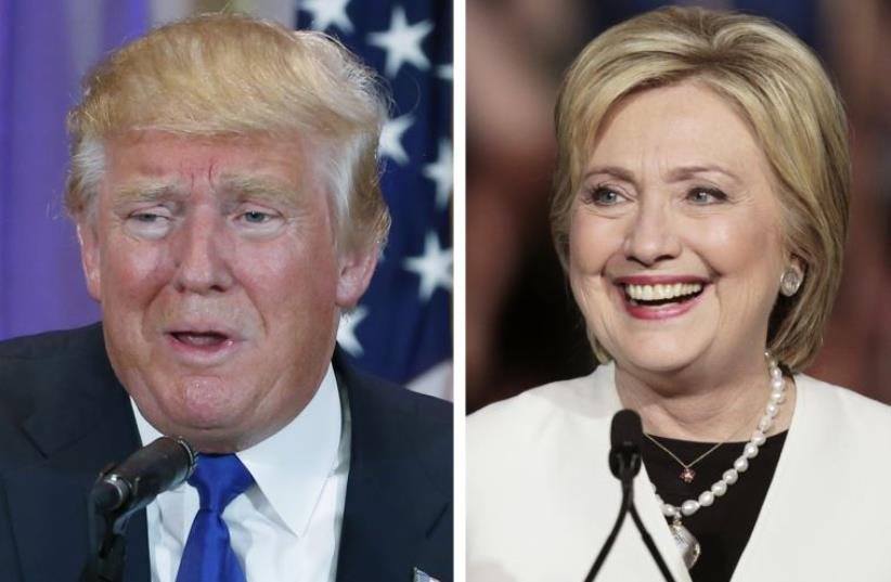 US presidential candidate Donald Trump (L) and Democratic US presidential candidate Hillary Clinton  (photo credit: REUTERS)