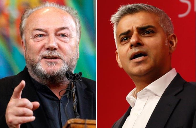 Galloway and Khan (photo credit: REUTERS)