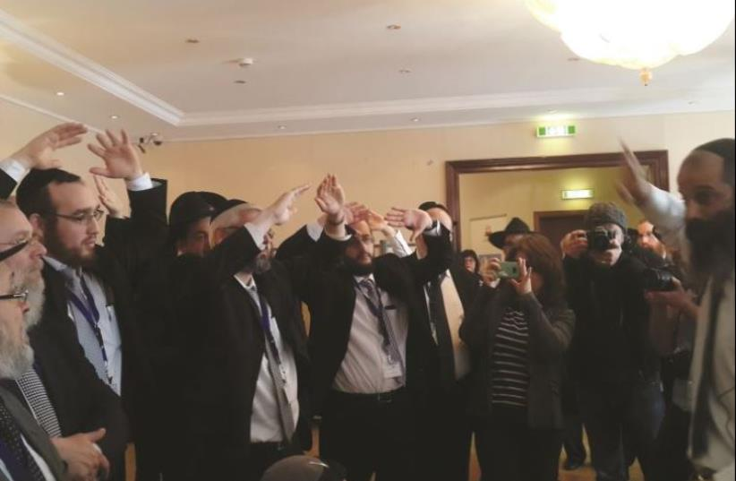 European rabbis learn self-defense in Berlin conference.  (photo credit: DANA SOMBERG)