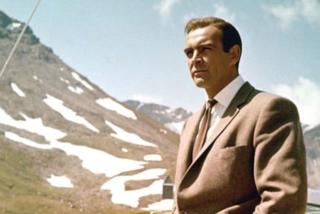 """""""MY NAME is Bond, James Bond': Sean Connery in 'Goldfinger.' (photo credit: Wikimedia Commons)"""