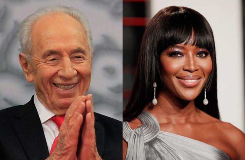 Peres and Campbell (photo credit: REUTERS)