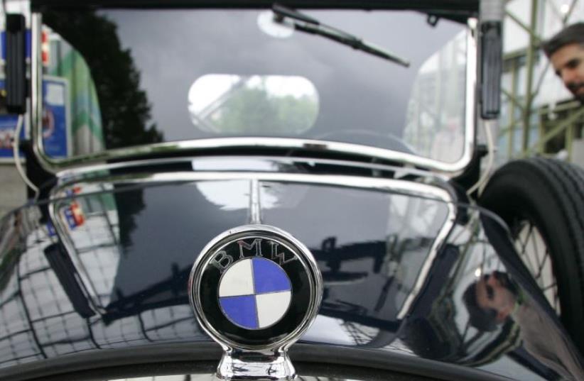 A vintage car of German luxury carmaker BMW [Illustrative] (photo credit: REUTERS)