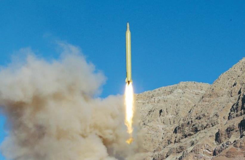 Iran launches missile from undisclosed location (photo credit: REUTERS)