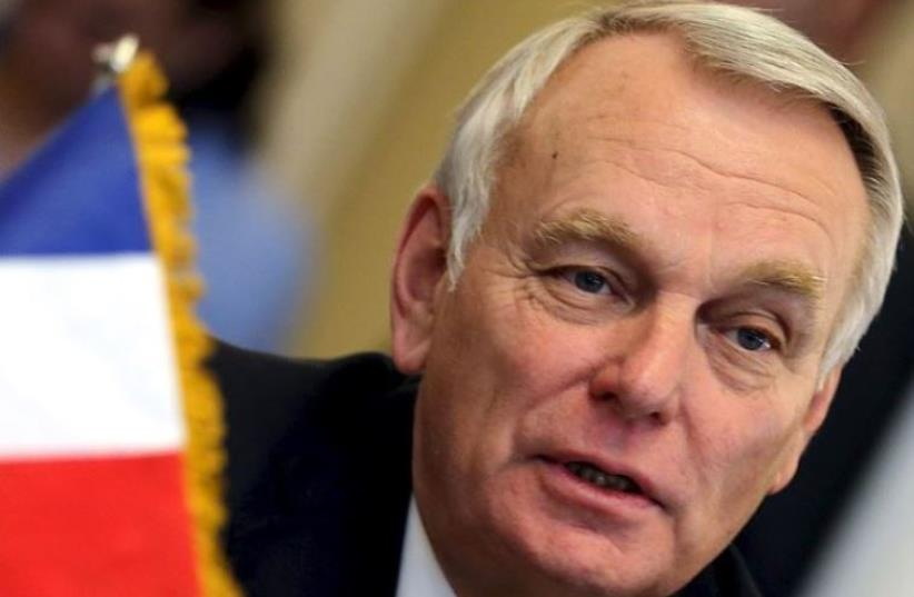 French Foreign Minister Jean-Marc Ayrault (photo credit: MOHAMED ABD EL GHANY/REUTERS)