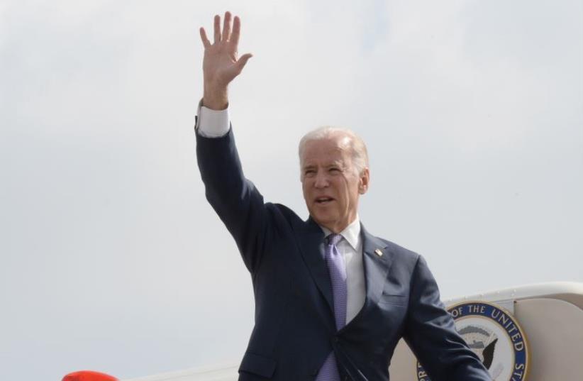 VP Joe Biden departure from Israel. March 10, 2016 (photo credit: MATTY STERN, US EMBASSY TEL AVIV)