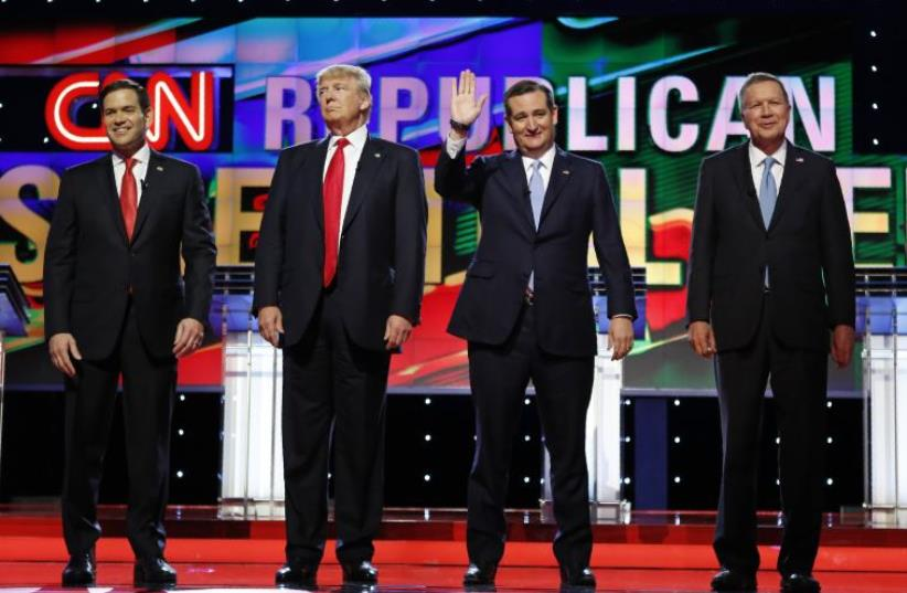 Republican debate in Miami, Florida (photo credit: REUTERS)