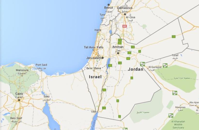 Map of Israel (photo credit: GOOGLE)