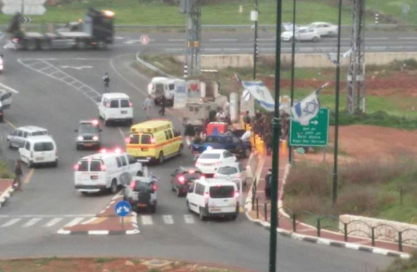 The scene of the attempted attack near the West Bank settlement of Kiryat Arba (photo credit: Courtesy)