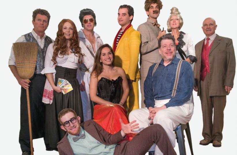 THE CAST of The Stage TLV's production of 'Picasso at the Lapin Agile.' (photo credit: NEIL GOLDSTEIN)