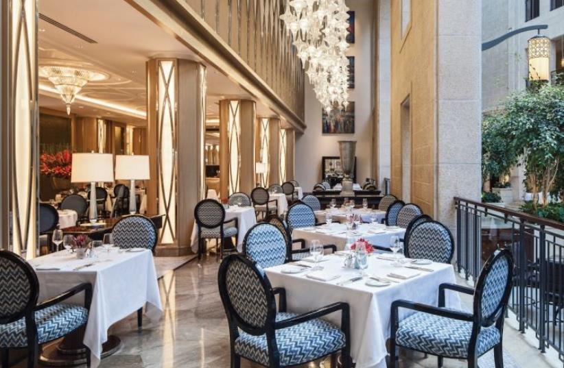 THE PALACE Restaurant at the Waldorf Astoria in Jerusalem (photo credit: SARKA BABICKA)