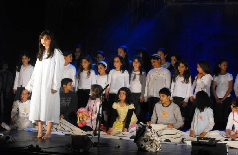 Israeli students learn English to The Sound of Music (photo credit: Courtesy)