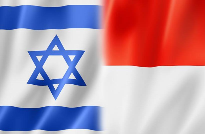 Israeli and Indonesian flags (photo credit: ING IMAGE/ASAP)