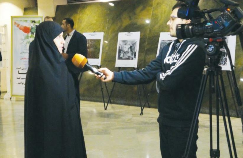 SAKINE OMRANI is one of the nine female members of the Iranian parliament. (photo credit: ANNIKA HERNROTH-ROTHSTEIN)