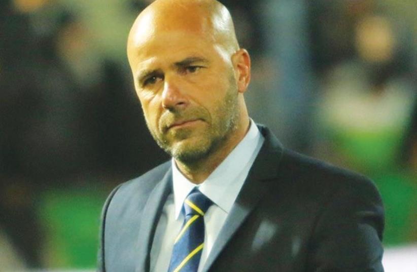 Maccabi Tel Aviv coach Peter Bosz (photo credit: DANNY MARON)