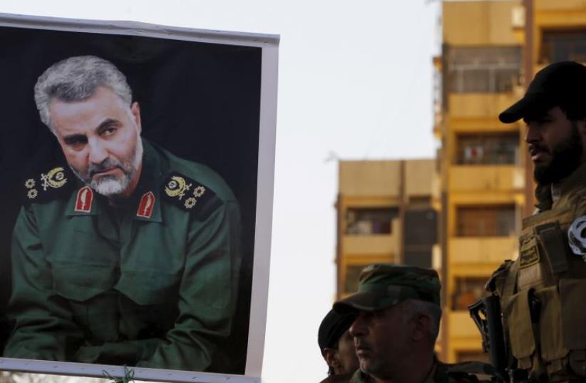 Qassem Suleimani, the commander of the Iranian Revolutionary Guard's Quds Force (photo credit: REUTERS)
