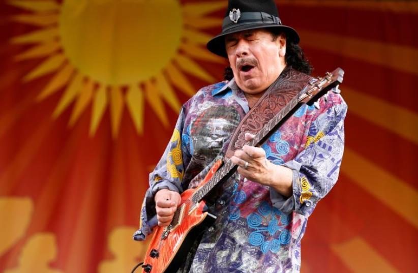 Carlos Santana (photo credit: REUTERS)