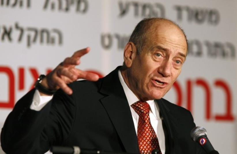 Ehud Olmert (photo credit: REUTERS)