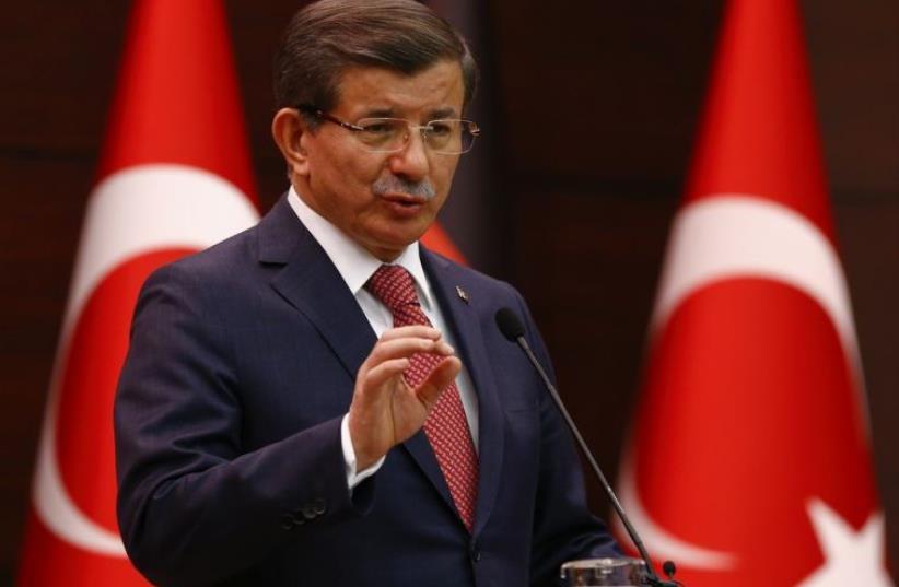 Turkish Prime Minister Ahmet Davutoglu (photo credit: REUTERS)