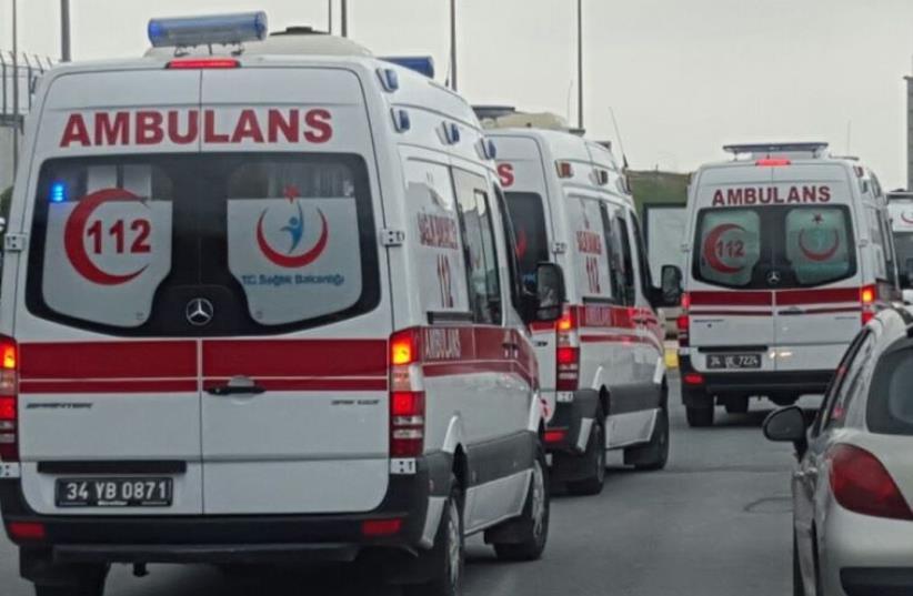 Red Crescent ambulances in Turkey (photo credit: MAGEN DAVID ADOM)