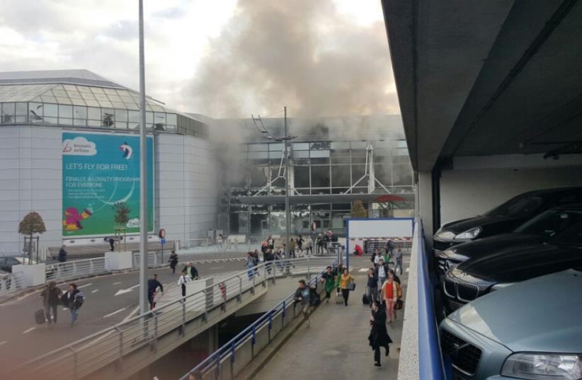 Multiple people injured after explosion heard at Belgium airport (photo credit: MEDABRIM TIKSHORET)