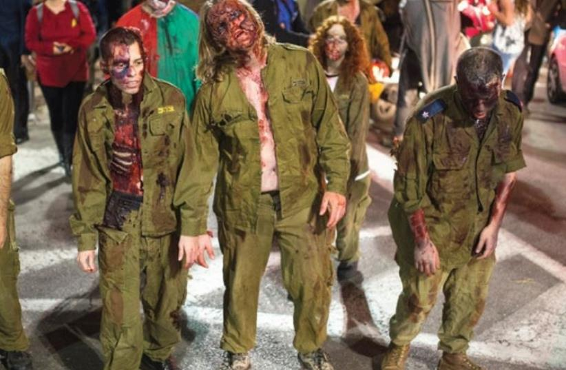 The annual Tel Aviv Zombie Walk (photo credit: AMIR COHEN)