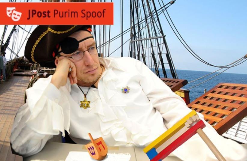 Walk the plank ya putz.' A Jewish pirate looks back on his years of kvetching (photo credit: JROAST STAFF)