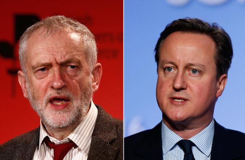 David Cameron and Jeremy Corbyn (photo credit: REUTERS)