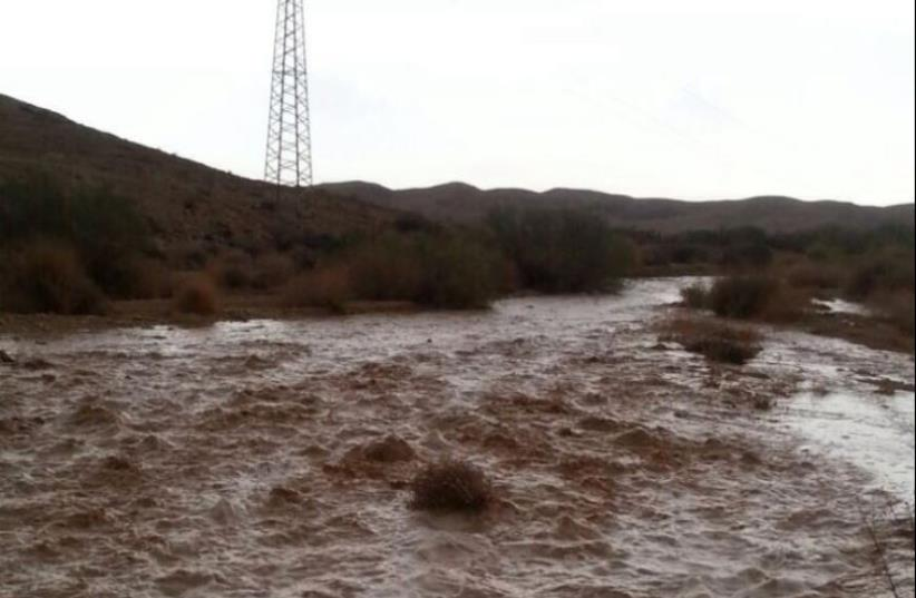Flash flood in the South  (photo credit: ISRAEL NATURE AND PARKS AUTHORITY)